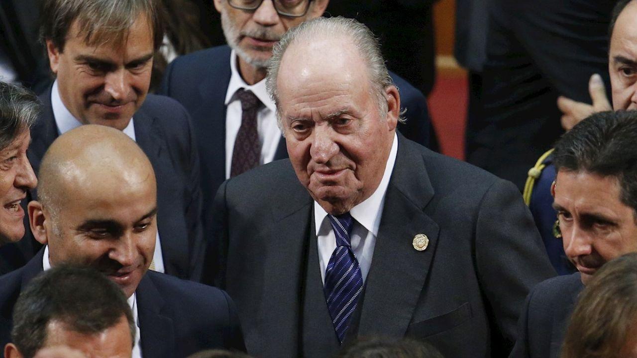 El rey Don Juan Carlos en un acto