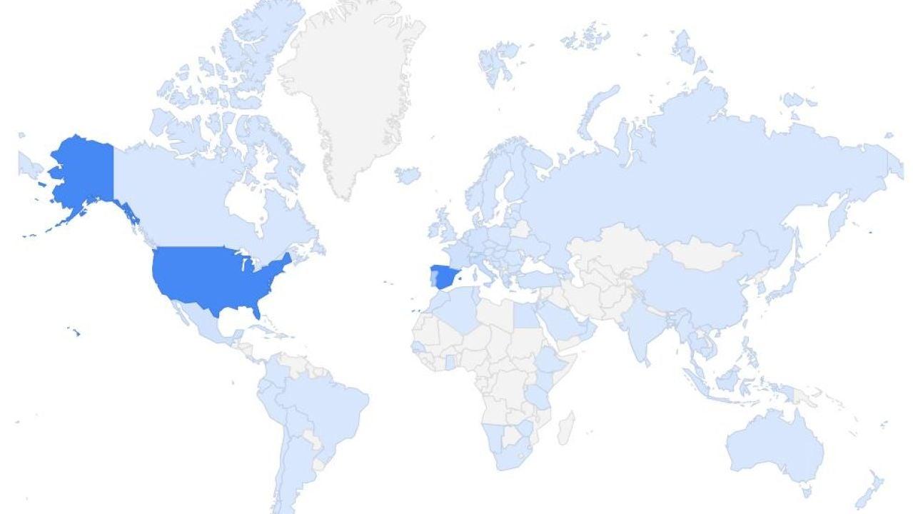 Mapa mundial de reservas turísticas
