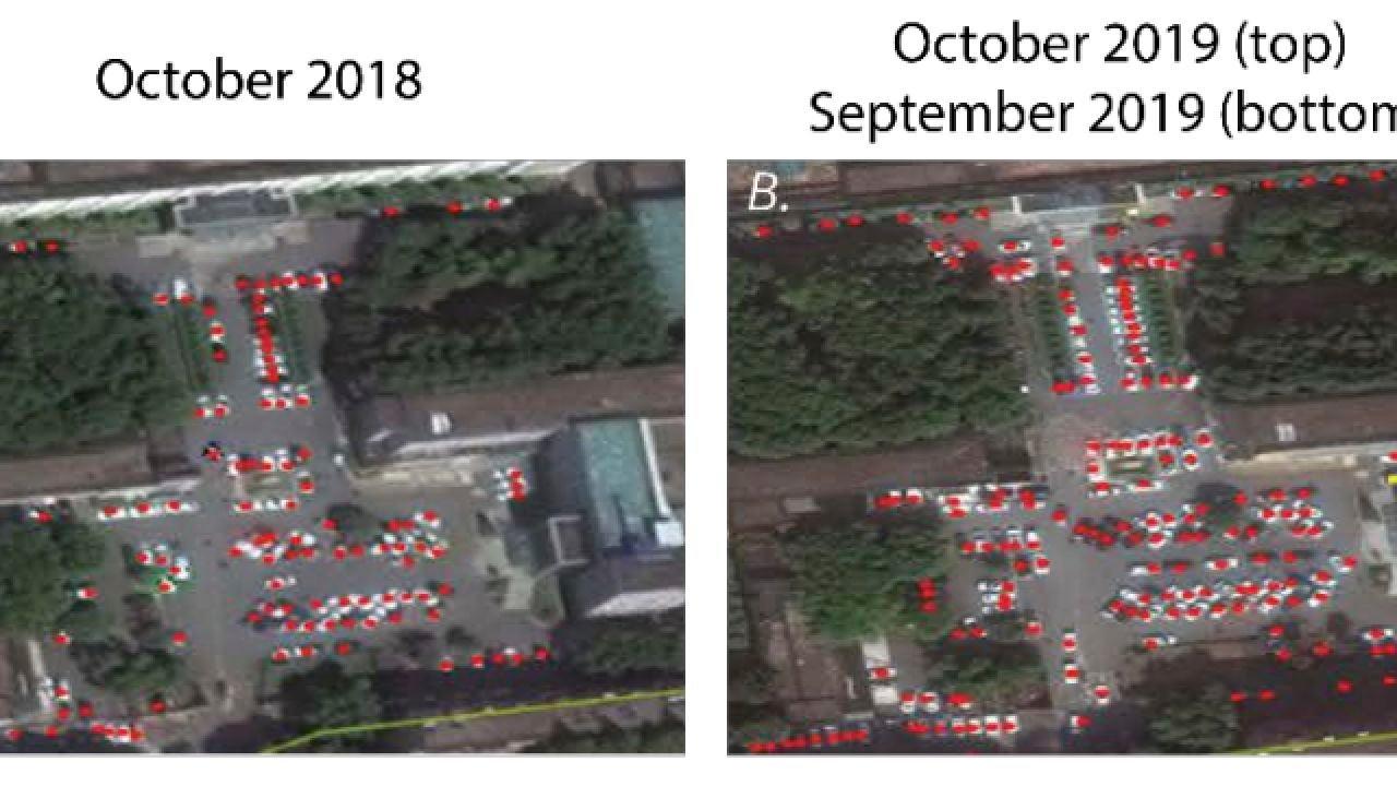 Harvard compara el tráfico en los hospitales de Huwan en octubre de 2018 y octubre de 2019
