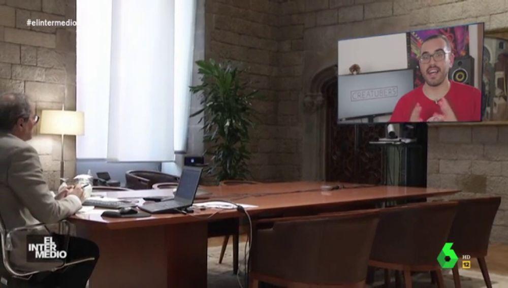 Vídeo manipulado - Quim Torra participa en un foro de Youtube para aprender a escribir su guión cinematográfico