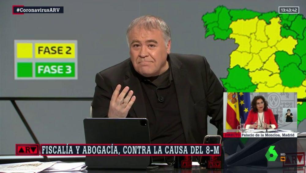 """Ferreras elogia el 'mea culpa' de un científico por infravalorar el Covid: """"Agradezco que sea así de honesto"""""""
