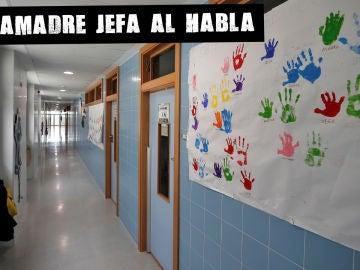 Pasillo de un colegio público de Valencia