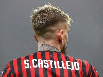Samu Castillejo, durante un partido con el Milan