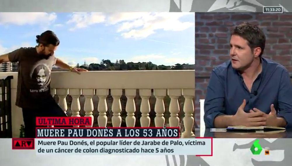 """Cintora recuerda a Pau Donés: """"Vi su última actuación y me quedo con eso, como a él le gustaba, encima del escenario"""""""
