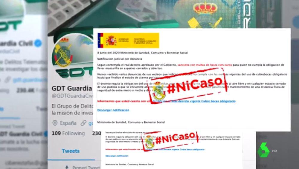 El timo de la mascarilla: no, el ministerio de Sanidad no envía un mensaje notificando de una multa por no usarla