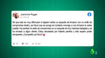El llamamiento de una trabajadora de Amazon tras perder su anillo de compromiso con uno de los paquetes