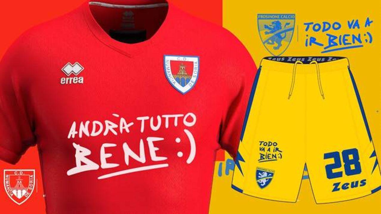 Campaña solidaria conjunta del Numancia y el Frosinone