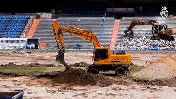 El Real Madrid difunde imágenes inéditas de la nueva 'cueva' en obras del Santiago Bernabéu