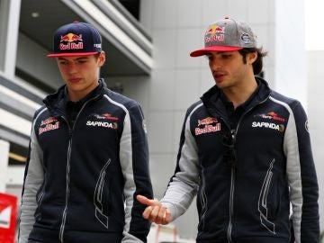 Verstappen y Sainz, en su etapa en Toro Rosso