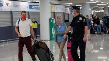 Llegada de turistas a Mallorca