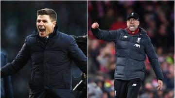 Steven Gerrard y Jürgen Klopp