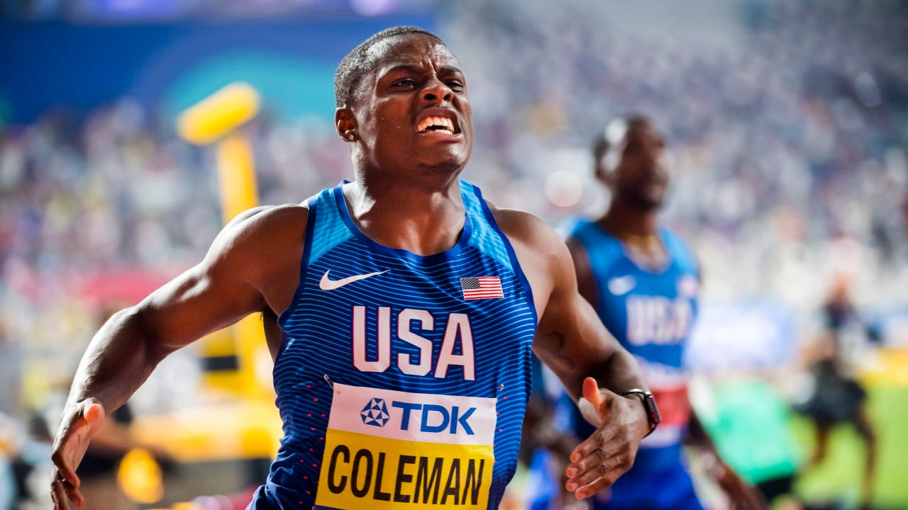 El velocista estadounidense Chris Coleman