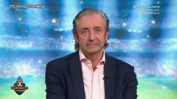"""El lapsus de Josep Pedrerol en 'El Chiringuito': """"No hace falta que el árbitro nos haga favores"""""""