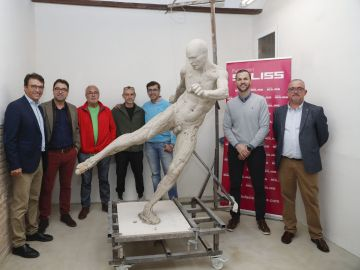 Estatua de Andrés Iniesta en Albacete