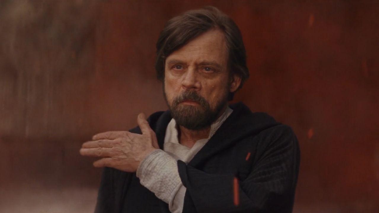 Mark Hamill, encarnando a Luke Skywalker en Star Wars: Episodio VIII: Los Últimos Jedi