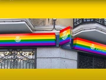 Imagen promocional del rediseño de Correos con motivo del Día del Orgullo