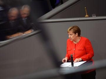 Angela Merkel, en el parlamento alemán