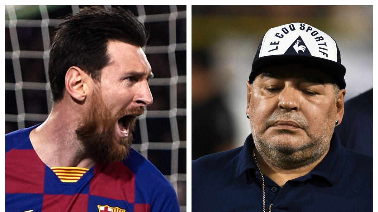 Messi y Maradona