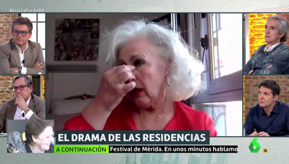 """La emoción de una residente de un centro de mayores al recordar el confinamiento: """"Ha sido como si estuviera en un rodaje de una película de terror"""""""