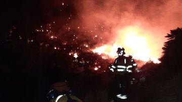Incendio forestal en Mojácar