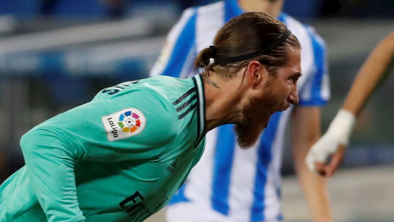 Sergio Ramos celebra un gol