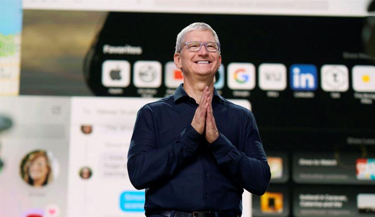 Tim Cook, durante la WWDC 2020.