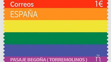 El sello diseñado para el Día del Orgullo cuesta un euro.