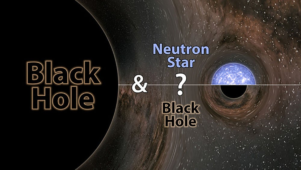 LIGO y Virgo descubren un misterioso objeto fusionandose con un agujero negro