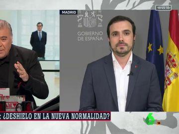 """Garzón afea la estrategia de """"acoso y derribo"""" del PP: """"Utiliza una escenificación peligrosa para convertir un gobierno legítimo en ilegítimo"""""""