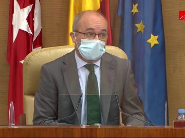 Juan Trinidad, presidente de la Asamblea de Madrid
