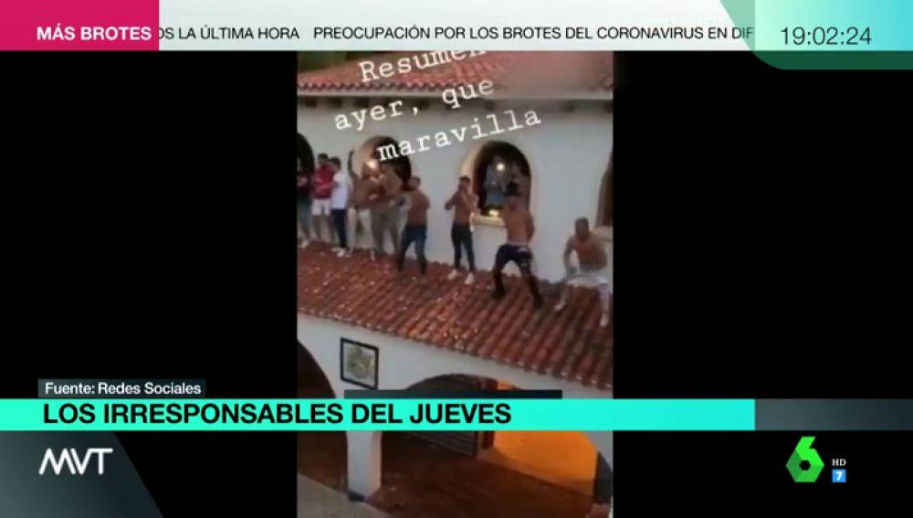 Los jóvenes compartieron en redes sociales vídeos de la fiesta ilegal