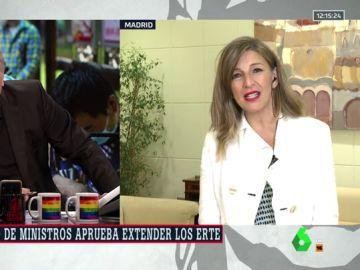 Yolanda Díaz en Al Rojo Vivo