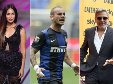 Megan Fox, Wesley Sneijder y George Clooney