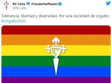Mensaje del Celta en Twitter