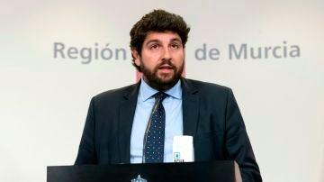 El presidente de la Región de Murcia, Fernando López Miras