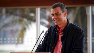 Pedro Sánchez durante un acto electoral