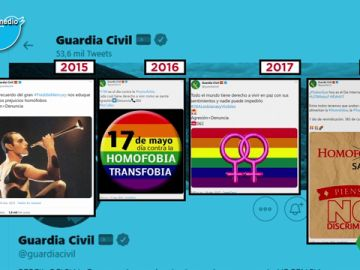 Estos son los tuits de la Guardia Civil en defensa del colectivo LGTBI desde 2015