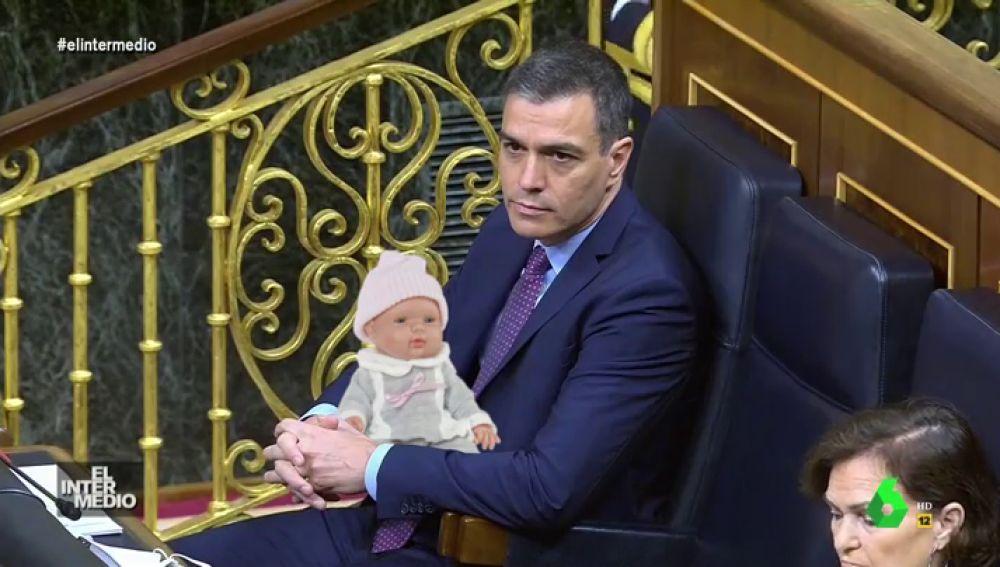 Vídeo manipulado - El surrealista momento en el que Sánchez interrumpe a Rufián con el llanto de un bebé