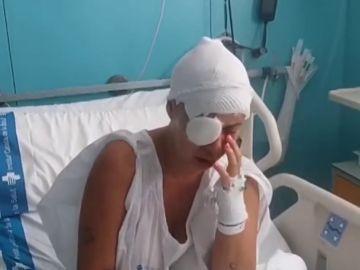 """Habla desde el hospital la mujer a la que un hombre lanzó sosa cáustica: """"Le había denunciado porque decía que me iba a quemar"""""""