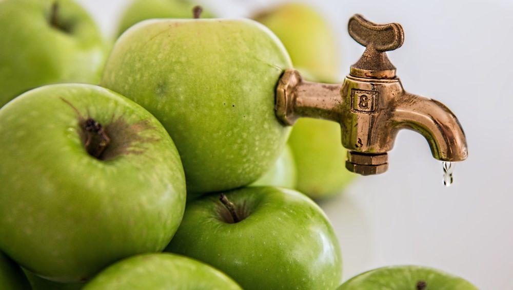 Manzanas apiladas