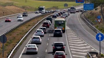 Imagen de archivo de la circulación de salida de Madrid