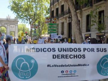 Movilización de sanitarios en Madrid