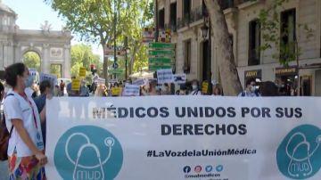Movilización de sanitarios en Madrid