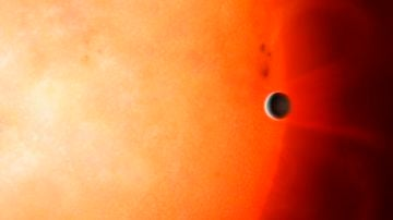 Representación del exoplaneta TOI-849b