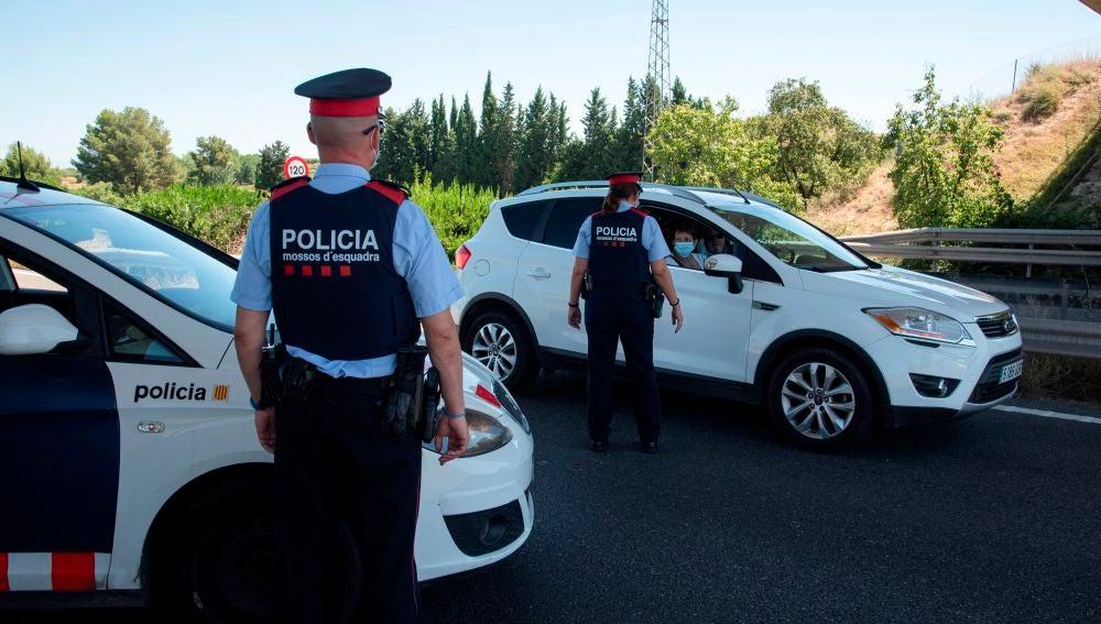 Control policial en la carretera N240 del la comarca del Segria