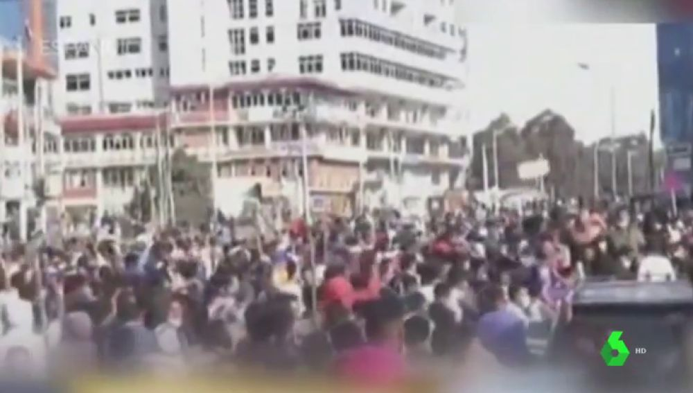 Protesta en Etiopía por la muerte de un cantante