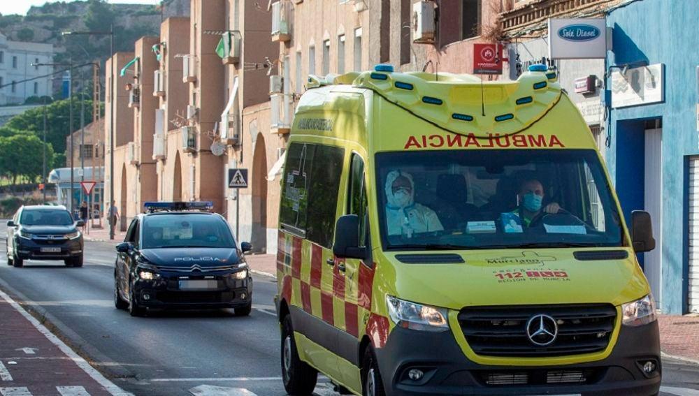 Una ambulancia en Cartagena