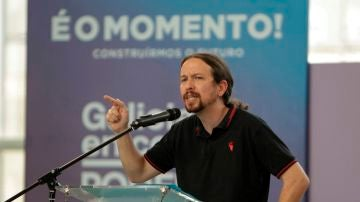 El secretario general de Podemos, Pablo Iglesias
