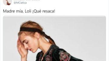 """Captura de uno de los post de la cuenta """"Modelos con ciática"""""""