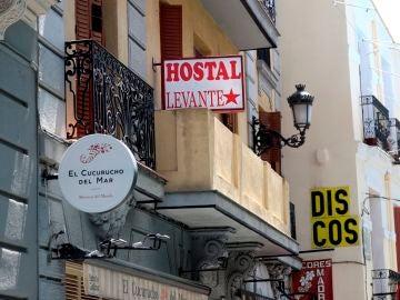 Hostal donde ocurrieron los hechos en Madrid